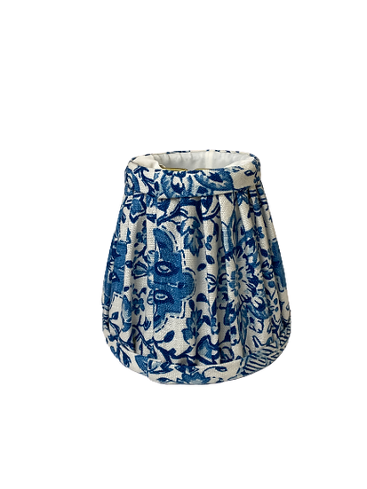 Blue Floral Chandelier Lamp Shade