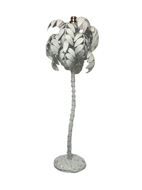 Vintage Metal Palm Tree Table Lamp