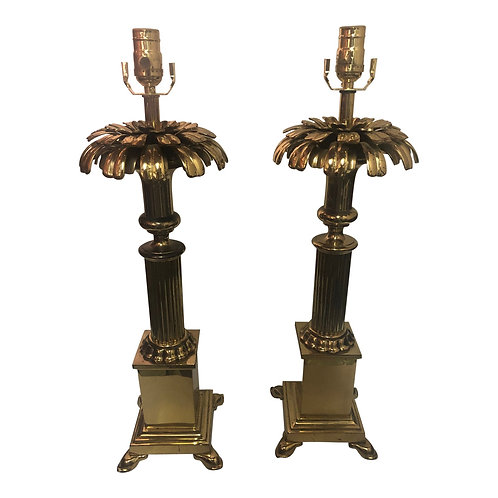 Pair of Vintage Chapman Brass Table Lamps
