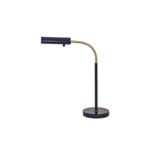 Fusion Navy Blue Desk Lamp