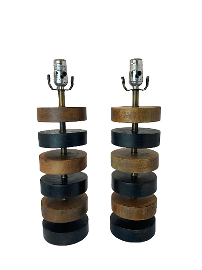 Vintage Wood Table Lamps