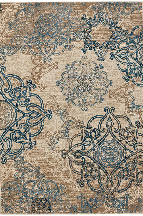 Celtic Collection Outdoor Rug in Beige Blue