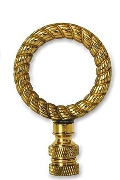 Solid Brass Gold Rope Ring