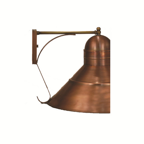 La Grange Series 18 Inch Exterior Wall Mounted Outdoor Light Fixture Shown  Is Solid Copper, With An Antique Copper Finish And Standard / Medium Base  Socket ...