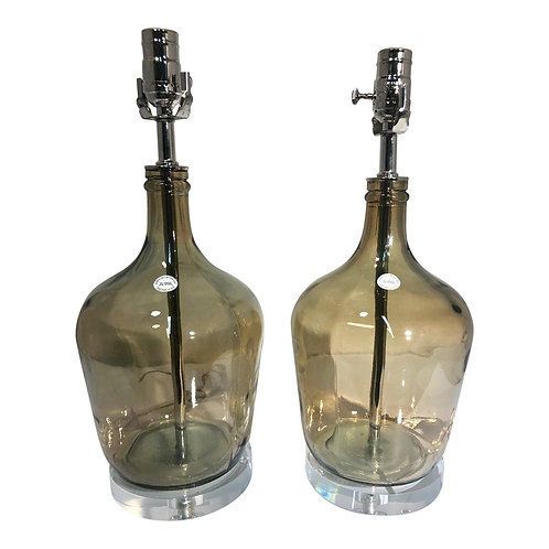 Custom Spanish Blown Glass Table Lamps