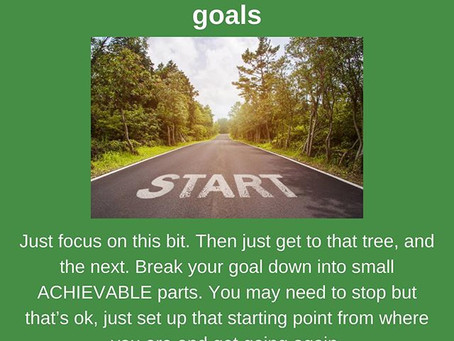 Getting started with your goals