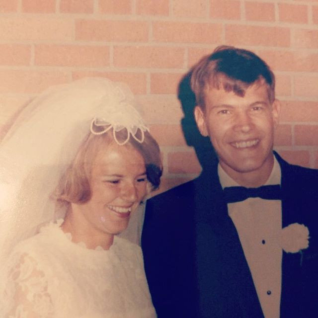 My parents on their wedding day. They waited for the perfect daughter for 49 years.