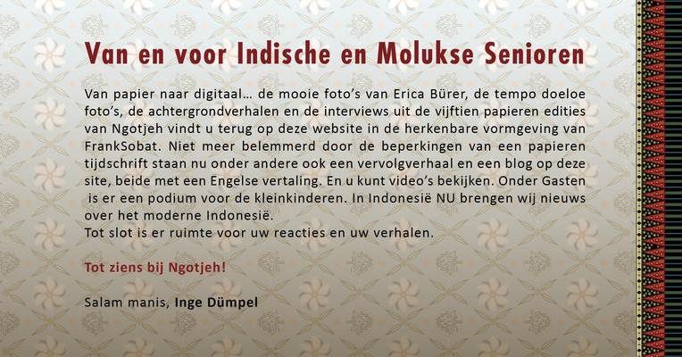 Van en voor Indische en Molukse Senioren