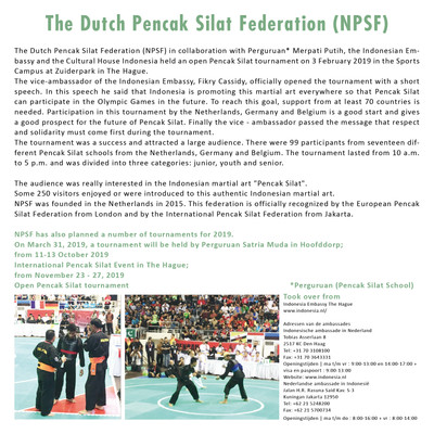 The Dutch Pencak Silat Federation (NPSF)