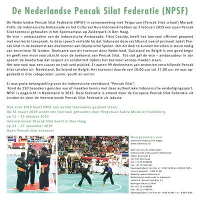 De Nederlandse Pencak Silat Federatie (NPSF)
