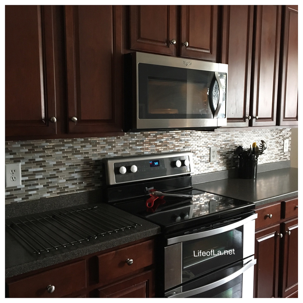 After backsplash