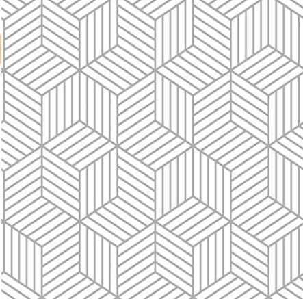 roomates grey striped hexagon peel & stick wallpaper