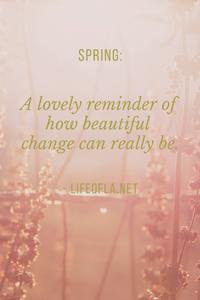 Spring a lovely reminder
