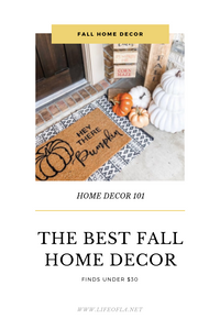 FALL HOME DECOR UNDER $30