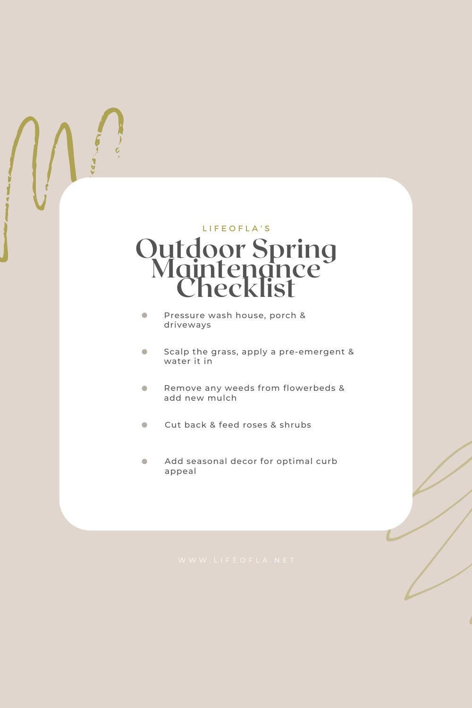 Outdoor Spring Maintenance Checklist