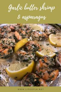 Garlic butter shrimp & asparagus