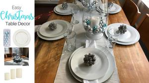 Easy Christmas Table Decor