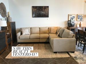 Tan sectional sofa
