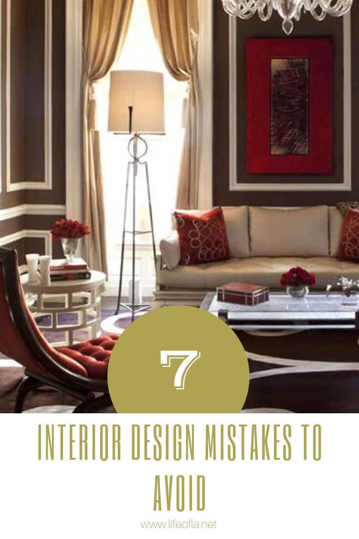 7 interior design mistake to avoid