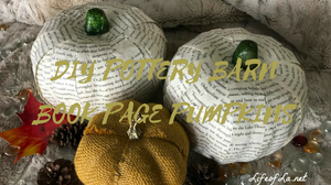 DIY Pottery Barn Book Page Pumpkins