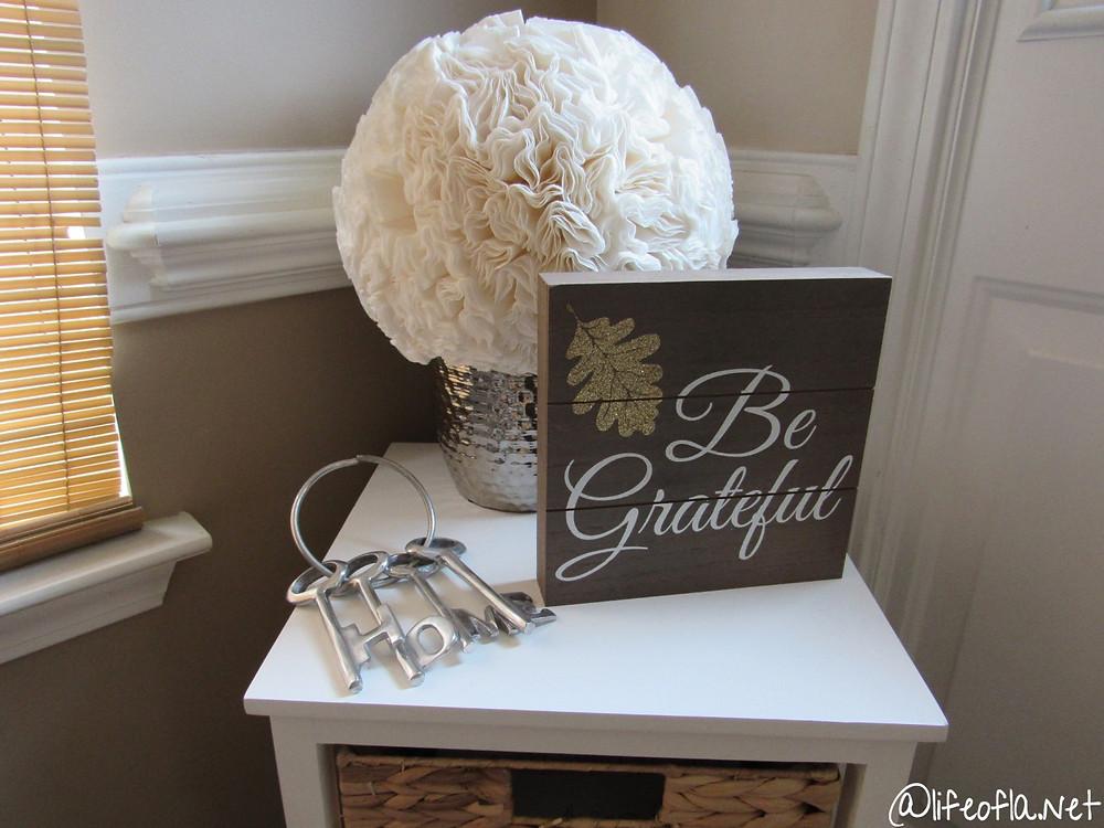 be grateful fall home decor