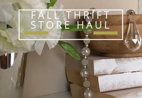Fall Thrift Store Haul