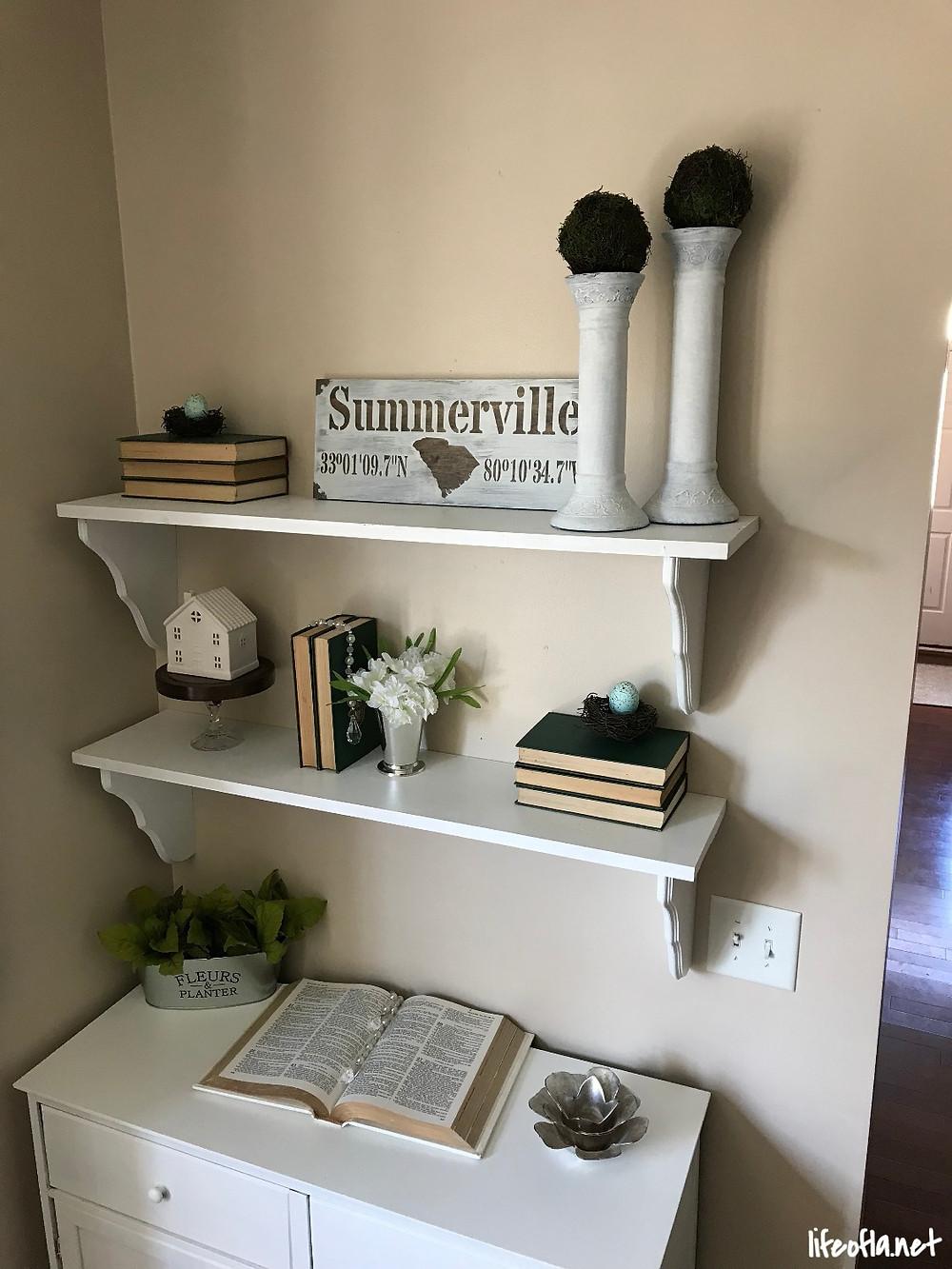 DIY wood shelves
