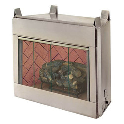 Exterior fireplaces-Vent free