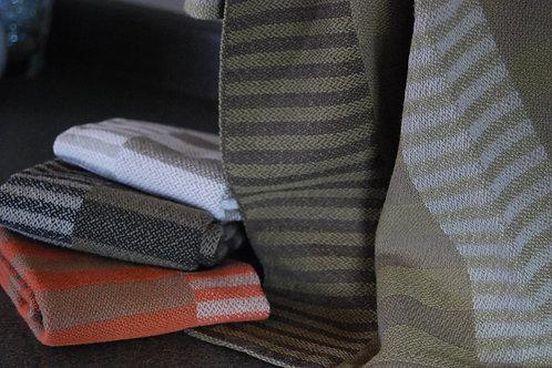 Side By Side Stripes Tea Towel Earthtones