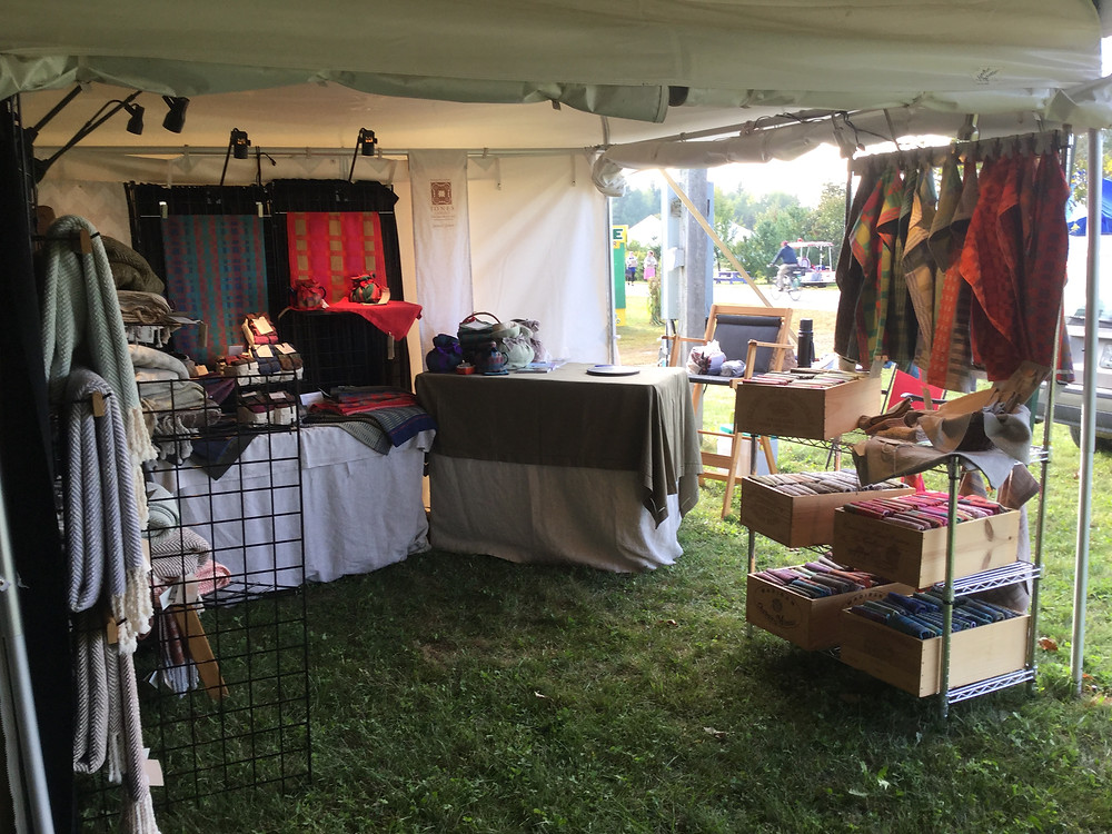 My booth Common Ground Fair, 2015