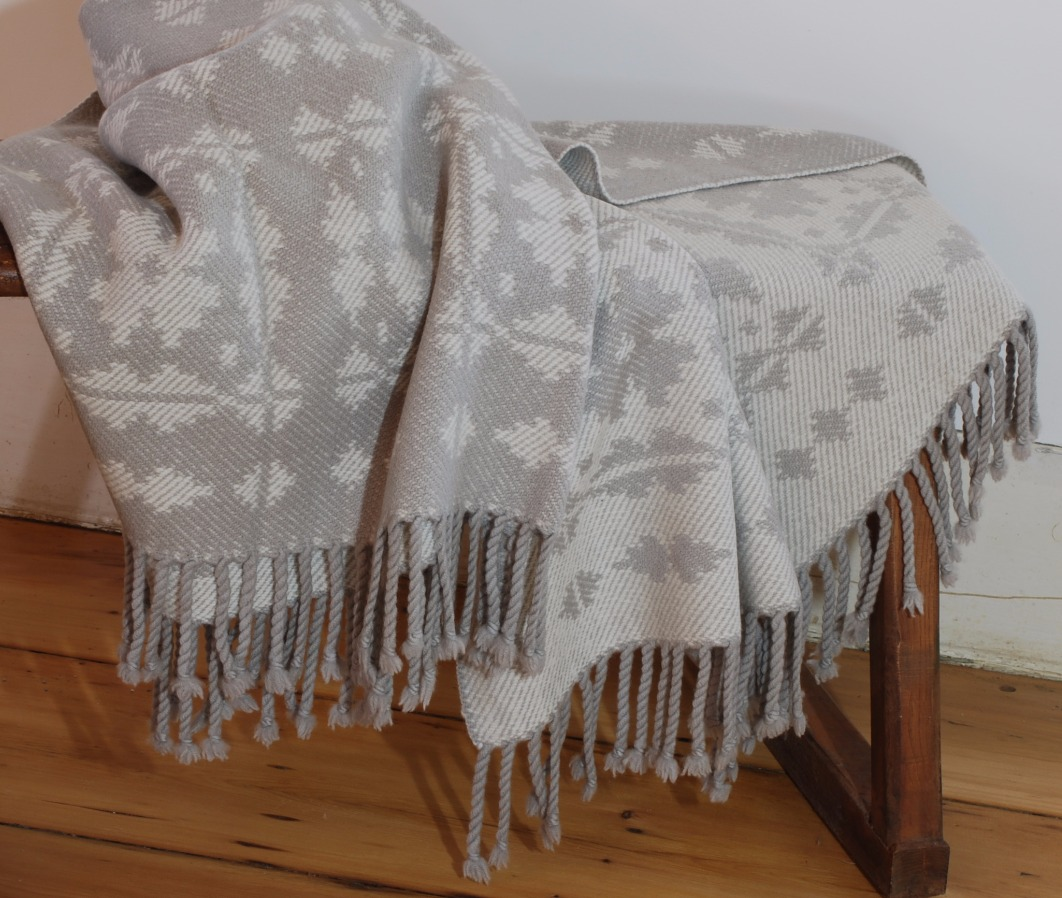 Welsh inspired organic merino throw