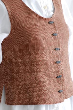 linen braid twill vest