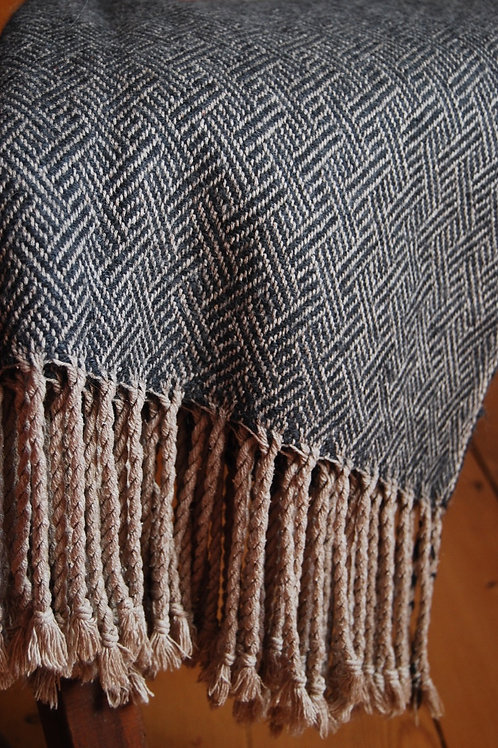 Silk and Baby Alpaca Braid Twill Throw