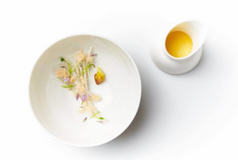 Yellow Tomato Consomme, Local herbs & flowers