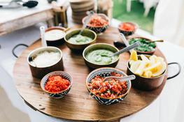 Salsa's, Guacamole, Herbs, Manchego & housemade hot sauces..