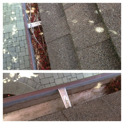 Before/After cleaning eavestrough