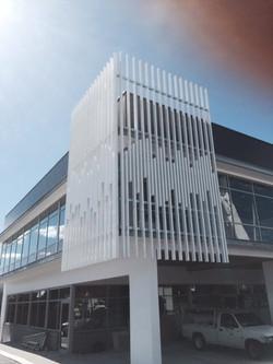 Architectural steel fascia