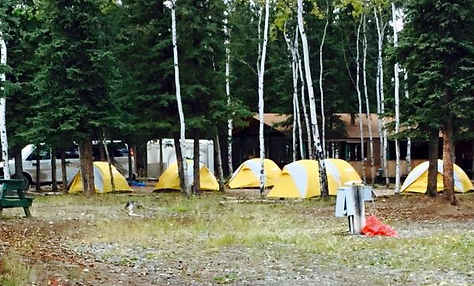 Tent camping at Sourdough Campground