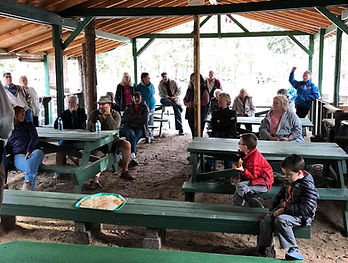 Pavillion space for Campers to watch pancake toss