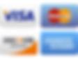Pay using Visa, MasterCard, Discover or American Express