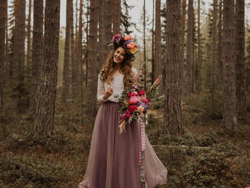 Brudklänning med en twist