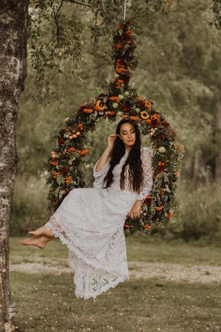 Fotografering med blomstergunga