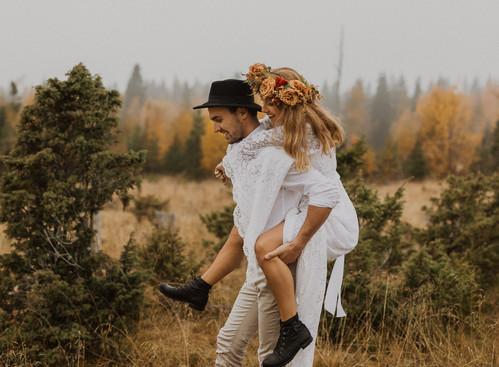 Bohemiskt bröllop - stylad fotografering i Östersund