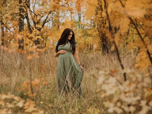 Höstig gravidfotografering på Frösön