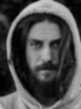black and white portrait of male model