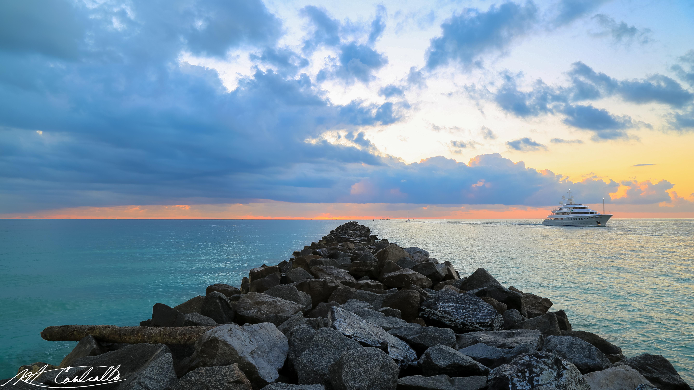 South Pointe Jetty, Miami Beach.