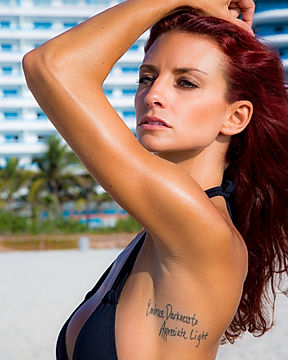Mke Carballo photography of a swimsuit model on Miami Beach