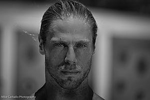 Black and white Headshot portrait of Marc Megna