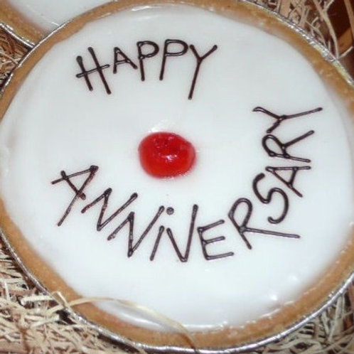 Personalised Iced Cherry Bakewell Tart