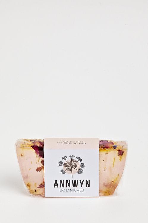 Rose & Rose Geranium Block Soap with Botanicals